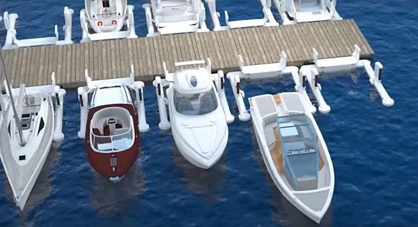 Automata dokkoló rendszer kishajóknak